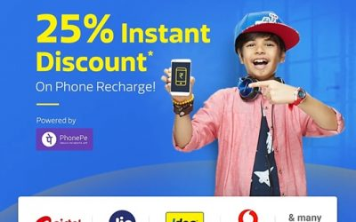 FLIPKART OFFERING FREE RECHARGE OF RS.25 PAYING THROUGH PHONEPE