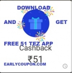 Download Tez application  and earn Rs.51 instantly